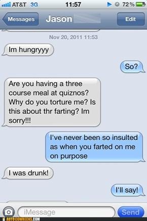 No Good Fart Goes Unpunished