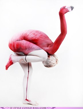 The Human Flamingo