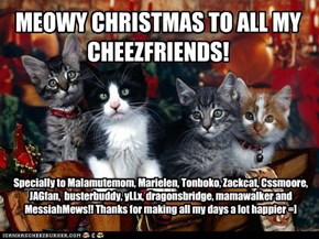 MEOWY CHRISTMAS TO ALL MY CHEEZFRIENDS!