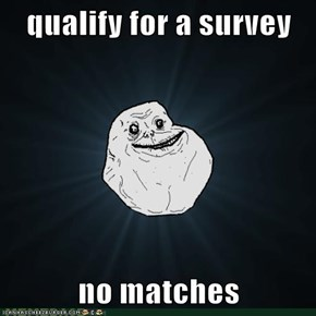qualify for a survey  no matches