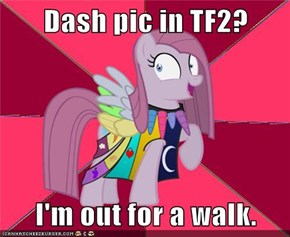 Dash pic in TF2?  I'm out for a walk.