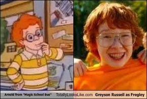 "Arnold from ""Magic School Bus"" Totally Looks Like Greyson Russell as Fregley"