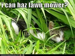 i can haz lawn mower?