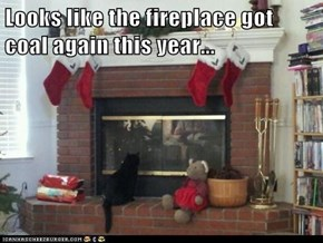 Looks like the fireplace got coal again this year...