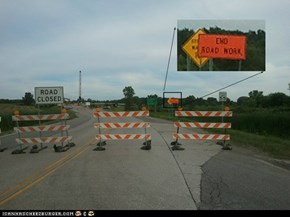 Road Construction Fail