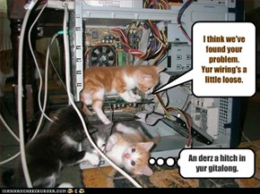 I think we've found your problem.  Yur wiring's a little loose.