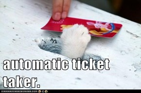 automatic ticket taker.