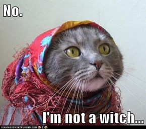 No.  I'm not a witch...