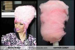 NICKI MINAJ Totally Looks Like COTTON CANDY