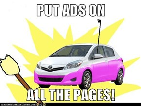 PUT ADS ON   ALL THE PAGES!