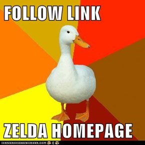 FOLLOW LINK  ZELDA HOMEPAGE