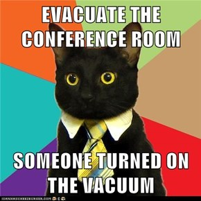 Business Cat: Curse You, Janitor Cat!!!