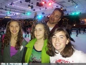 Photobomb on ice