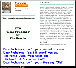 """Dear Poohdence"" (TTO ""Dear Prudence"" by The Beatles)"