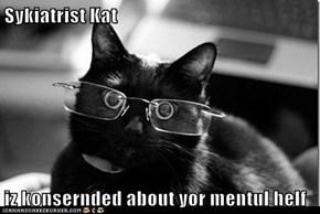 Sykiatrist Kat  iz konsernded about yor mentul helf