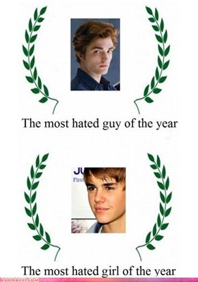 And The Awards For 'Most Hated' Go To...