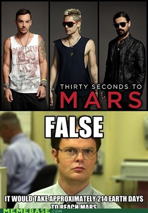 Dwight knows his space facts.
