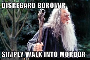 DISREGARD BOROMIR  SIMPLY WALK INTO MORDOR