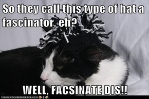 So they call this type of hat a fascinator, eh?  WELL, FACSINATE DIS!!
