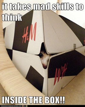 it takes mad skills to think  INSIDE THE BOX!!