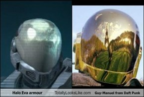Halo Eva armour Totally Looks Like Guy-Manuel from Daft Punk