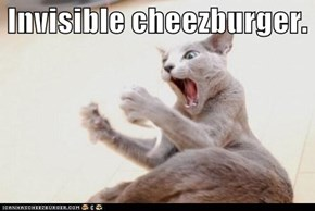 Invisible cheezburger.