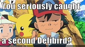 You seriously caught  a second Delibird?