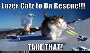 Lazer Catz to Da Rescue!!!  TAKE THAT!