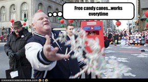 Free candy canes...works everytime