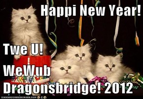 Happi New Year! Twe U! WeWub Dragonsbridge! 2012