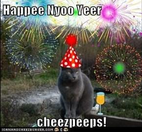 Happee Nyoo Yeer  cheezpeeps!