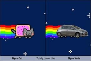 Nyan Cat Totally Looks Like Nyan Yaris