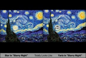 "Star in ""Starry Night"" Totally Looks Like Yaris in ""Starry Night"""