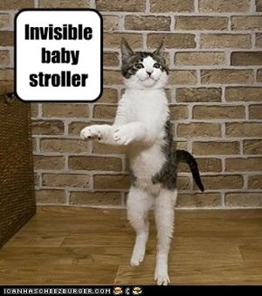 Invisible baby stroller