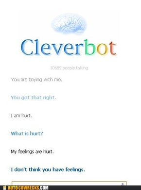 Cleverbot will say hurtful things