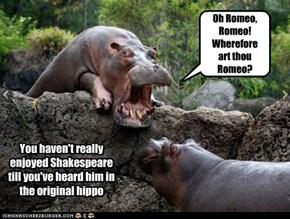 Oh Romeo, Romeo! Wherefore art thou Romeo?