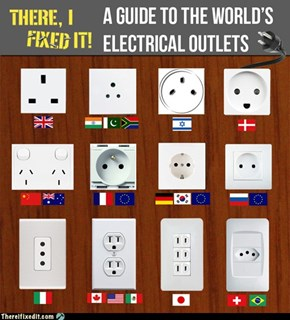 There I Fixed It: World Electrical Outlets - A Visual Guide