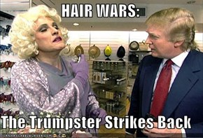 HAIR WARS:  The Trumpster Strikes Back