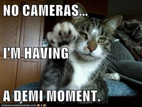 NO CAMERAS... I'M HAVING A DEMI MOMENT.