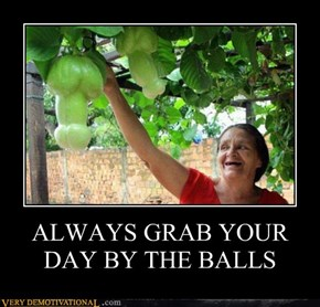 ALWAYS GRAB YOUR DAY BY THE BALLS