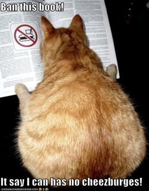 Ban this book!  It say I can has no cheezburges!