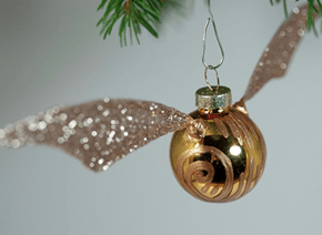 DIY Golden Snitch Ornament of the Day
