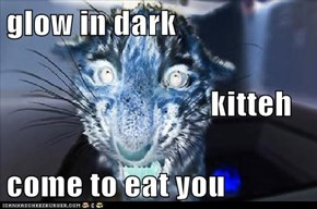 glow in dark                                 kitteh come to eat you