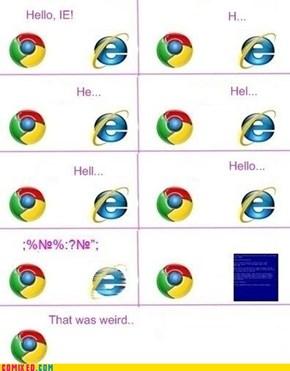 Internet Explorer Is a Weirdo