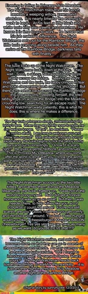 The Night Watchman and Dexter. An original short story by sunnyhuckle