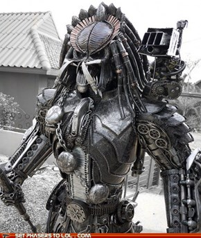 Steampunk Predator Sculpture