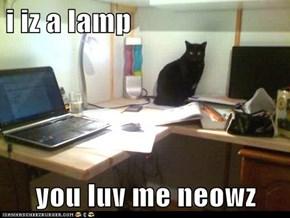 i iz a lamp  you luv me neowz