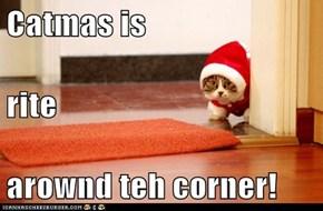 Catmas is rite  arownd teh corner!