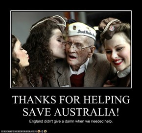 THANKS FOR HELPING SAVE AUSTRALIA!