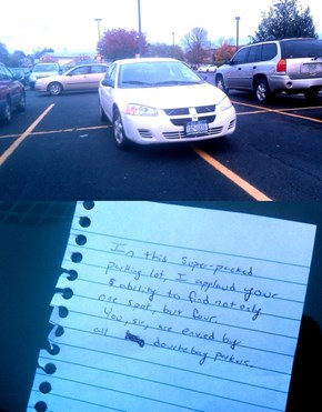 Douchebag Parker, Meet Douchebag Note Writer